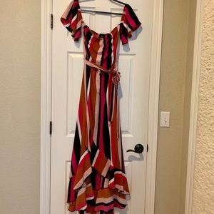 VICI long striped maxi. Worn once. Size M